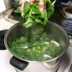 how to cook frozen bok choy