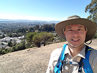 Selfie First Hike Joaquin Miller Park Lookout Point Overlooking San Francisco And East Bay