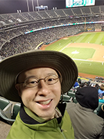 Selfie Upper Deck A's Game At The Oakland Coliseum