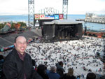 AT&T Park On The Upper Level And The Stage Behind Me.  I'm Waiting for Paul McCartney To Appear