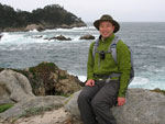 Sitting On A Rock At Point Lobos And The Pacific Ocean Behind Me